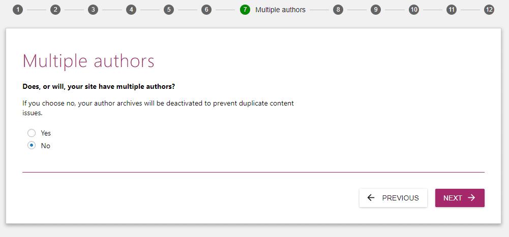 Escolha se você terá um ou múltiplos autores