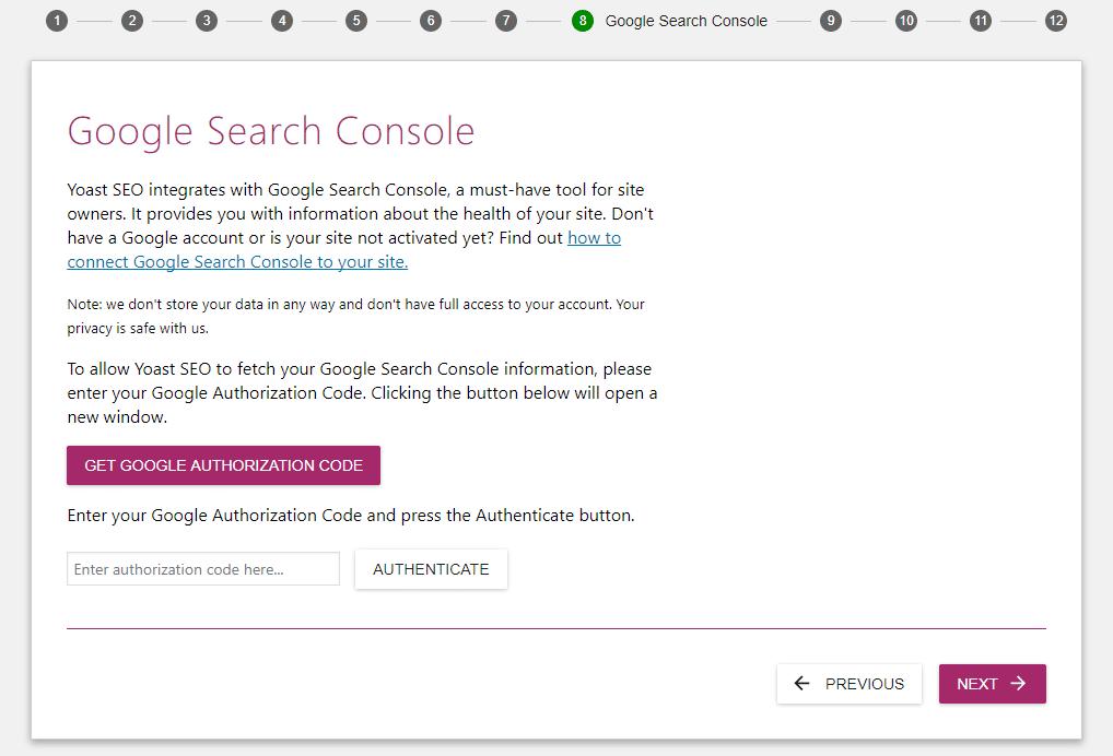 Se você tem uma conta no Google Search Console, deve sincronizá-la agora