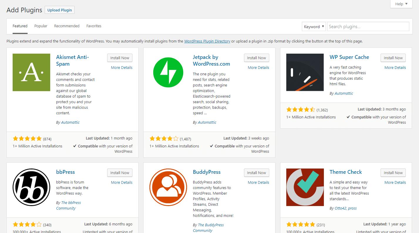Como você adiciona um novo plugin WordPress