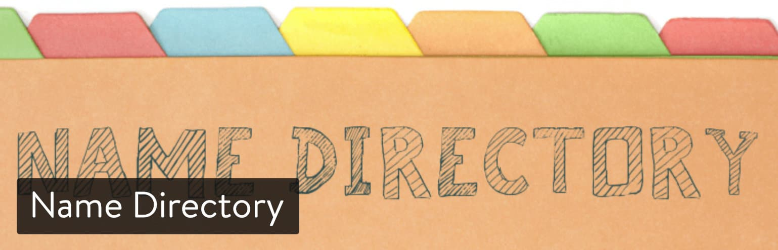 Name Directory WordPress plugin