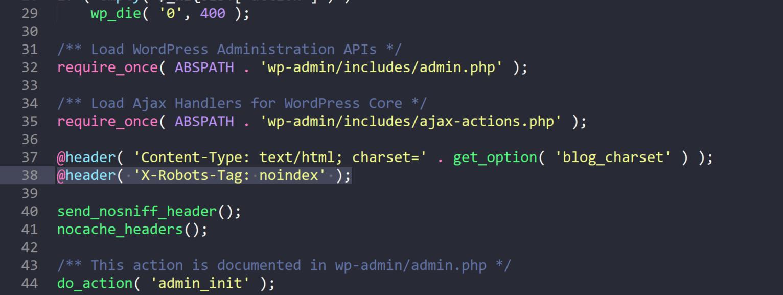 noindex admin-ajax.php