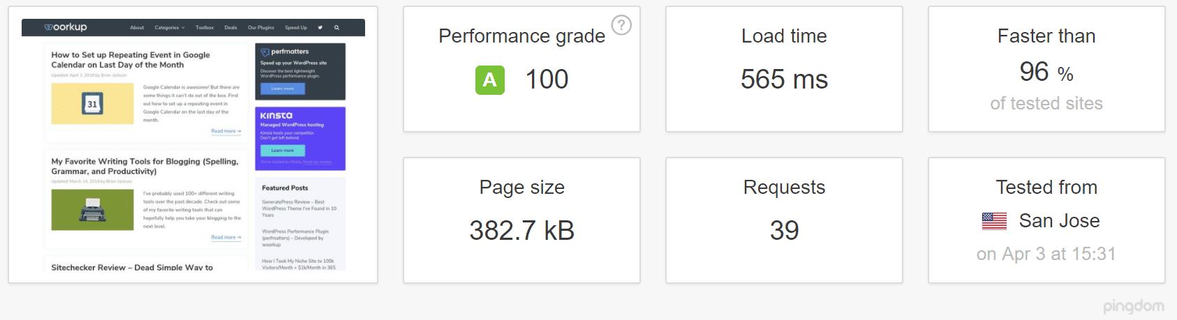 Site WordPress com cache