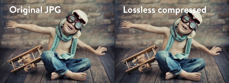 Comparação de compressão sem perdas