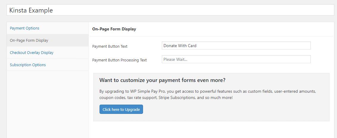 Alterar o texto do botão de doação