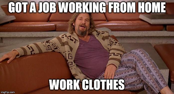 Trabalhando remotamente código de vestimenta