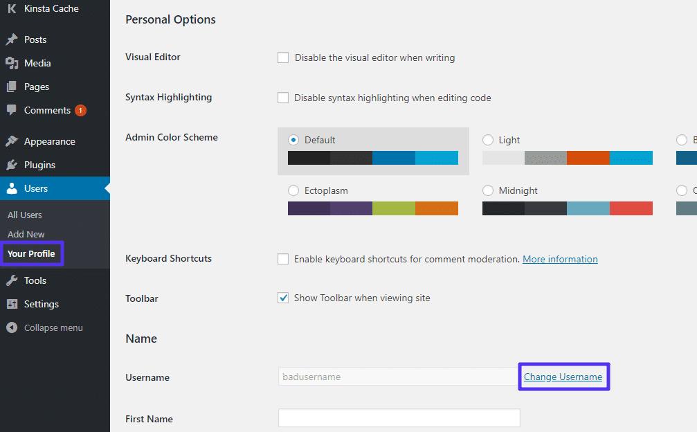 O plugin adiciona essa opção nova