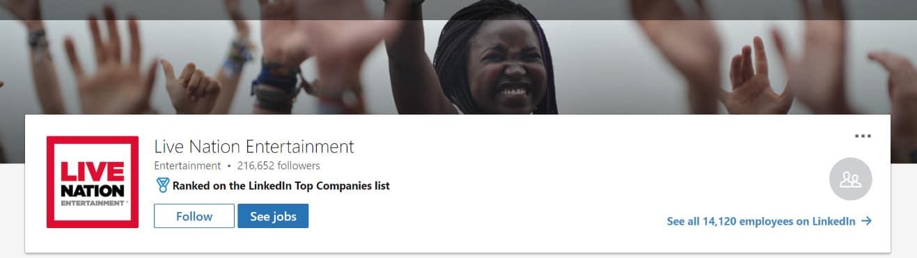 LinkedIn ventilador na foto da capa