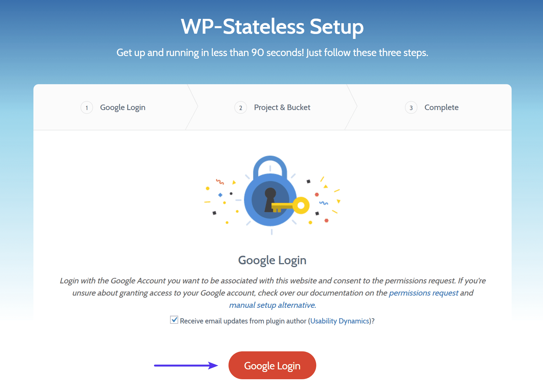 Login no Google no WP-Stateless