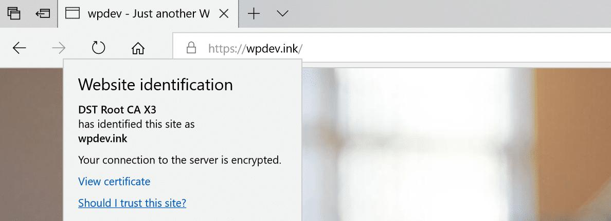 Sem avisos de conteúdo misto no Microsoft Edge