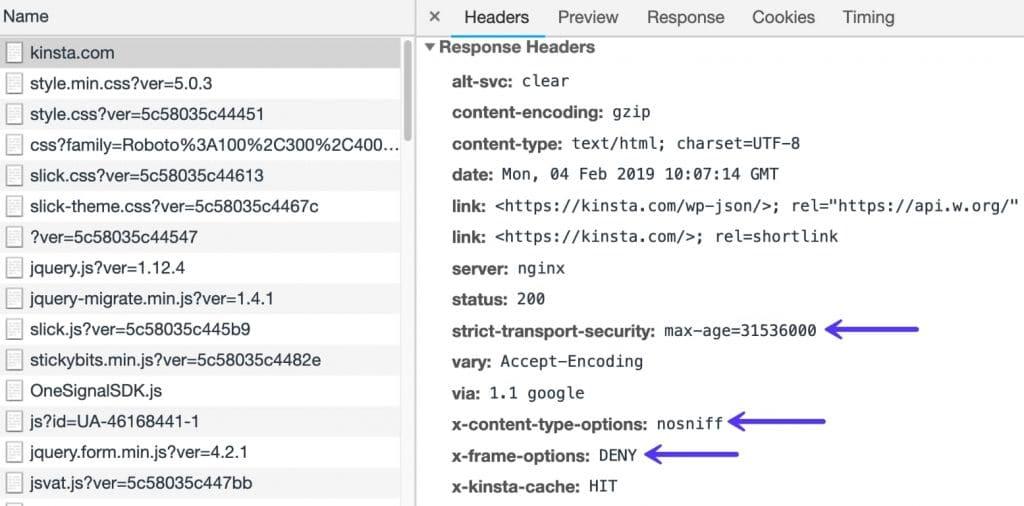 Cabeçalhos de segurança HTTP