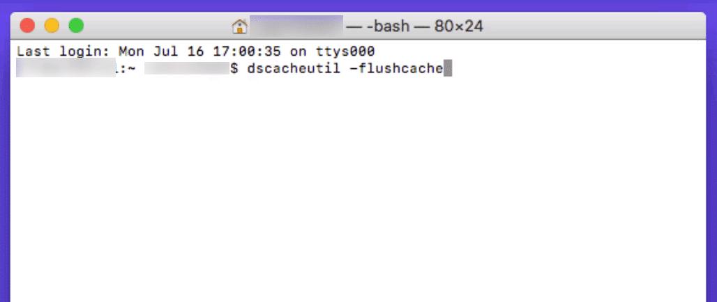 Limpar o cache DNS no Mac
