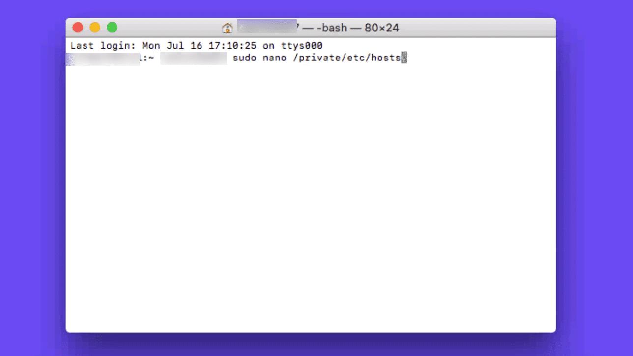 Arquivo hosts do Mac