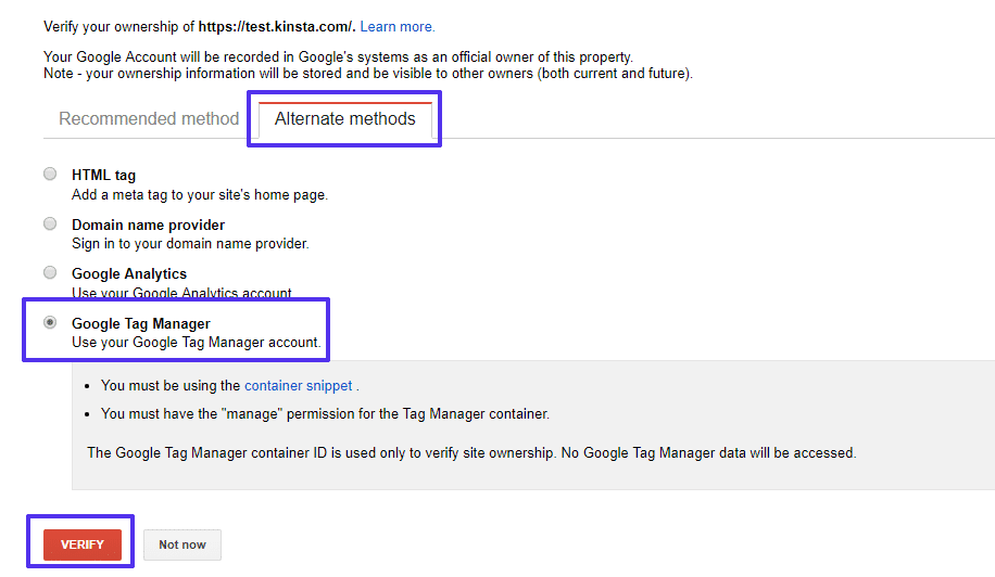 Método do Google Tag Manager