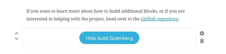 Botão do Gutenberg