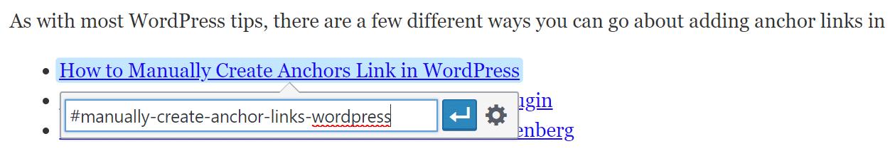 Crie um link de âncora com HTML