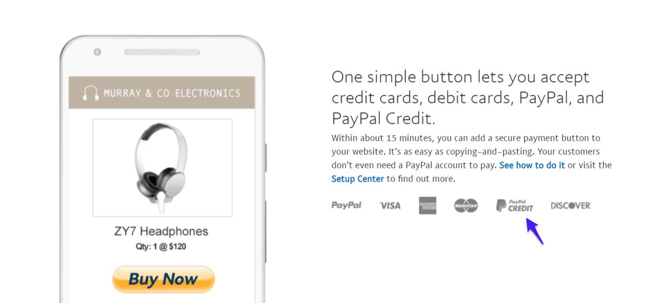 Crédito PayPal