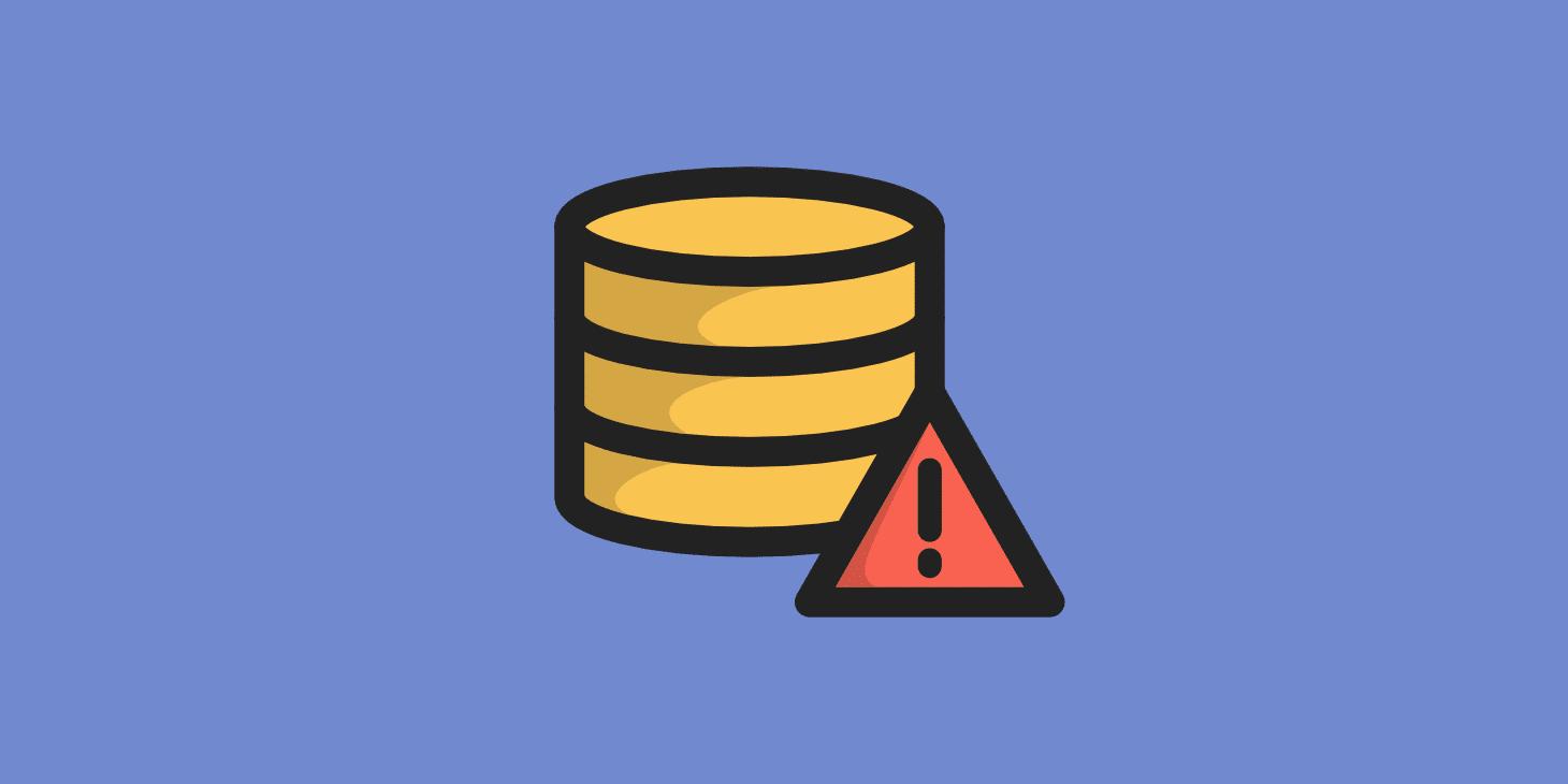 Erro ao Estabelecer uma Conexão com o Banco de Dados