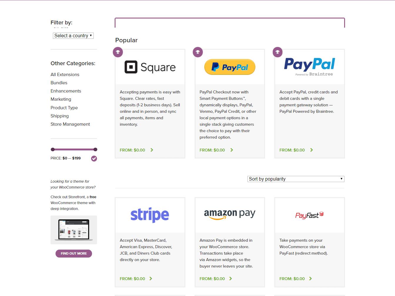 Integrações de gateway de pagamento WooCommerce