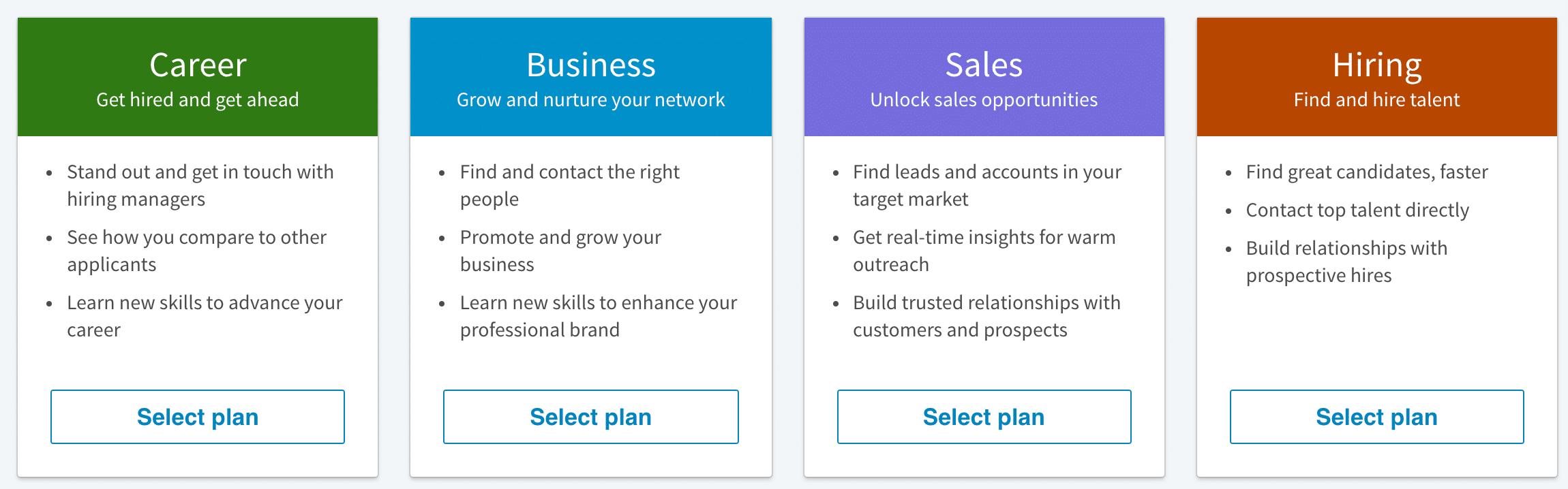 Planos LinkedIn