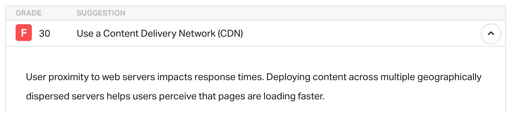 Use uma rede de entrega de conteúdo (CDN)