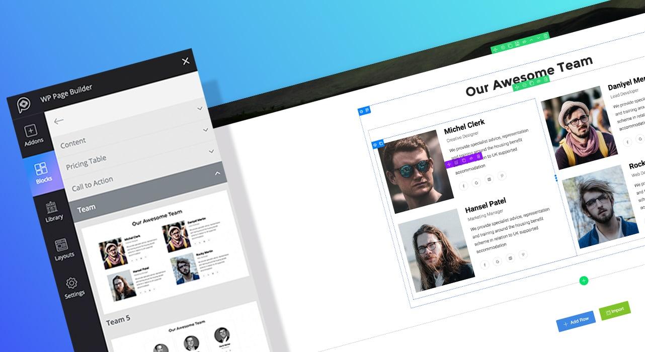 Blocos WP Page Builder