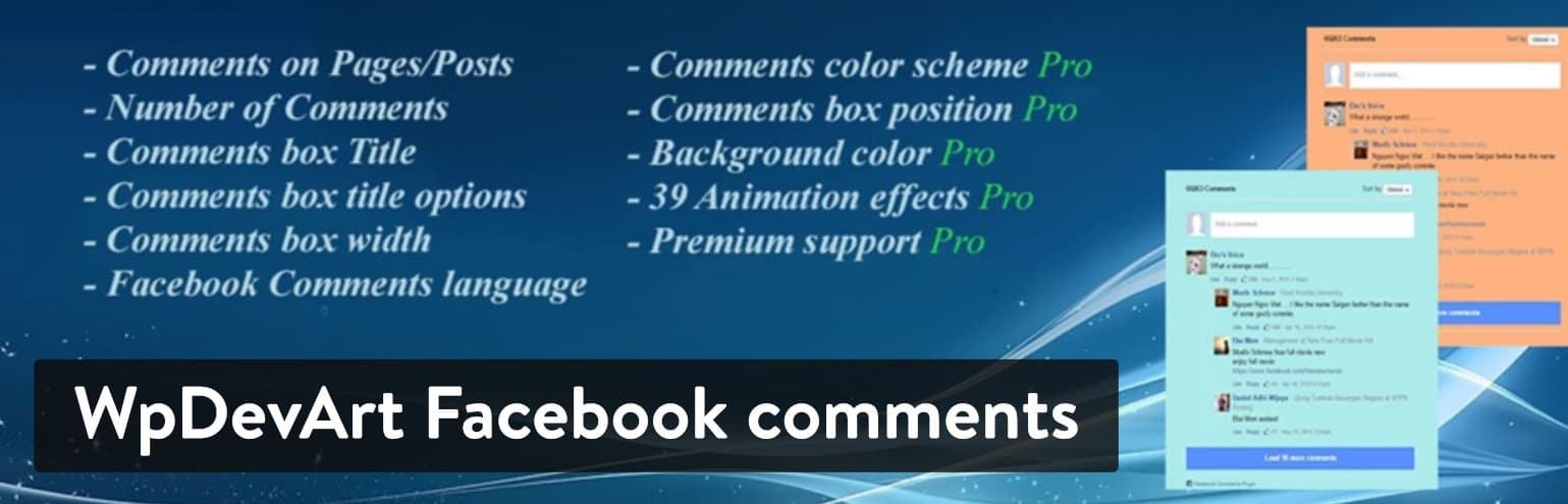 Plugin WpDevArt Facebook comments