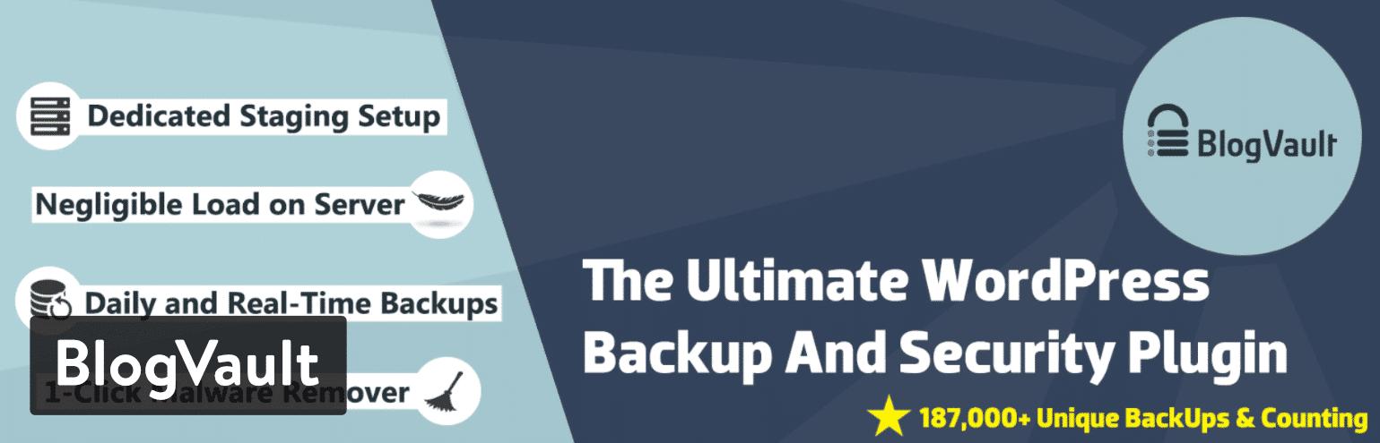Plugin WordPress de backup BlogVault