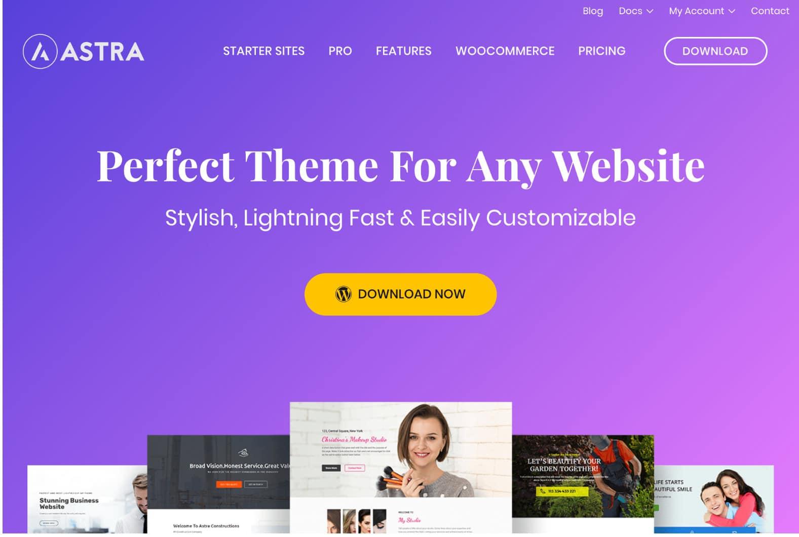 Tema Astra para WordPress