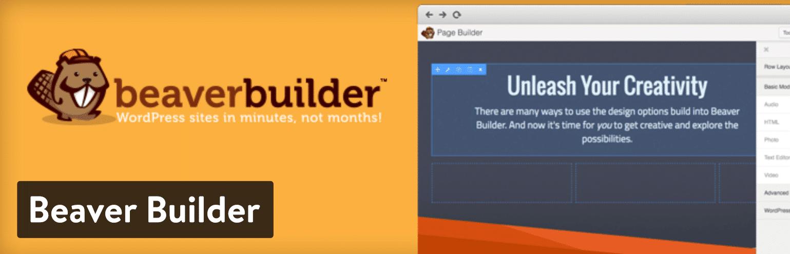 Beaver Builder WordPress plugin da página de aterragem do WordPress