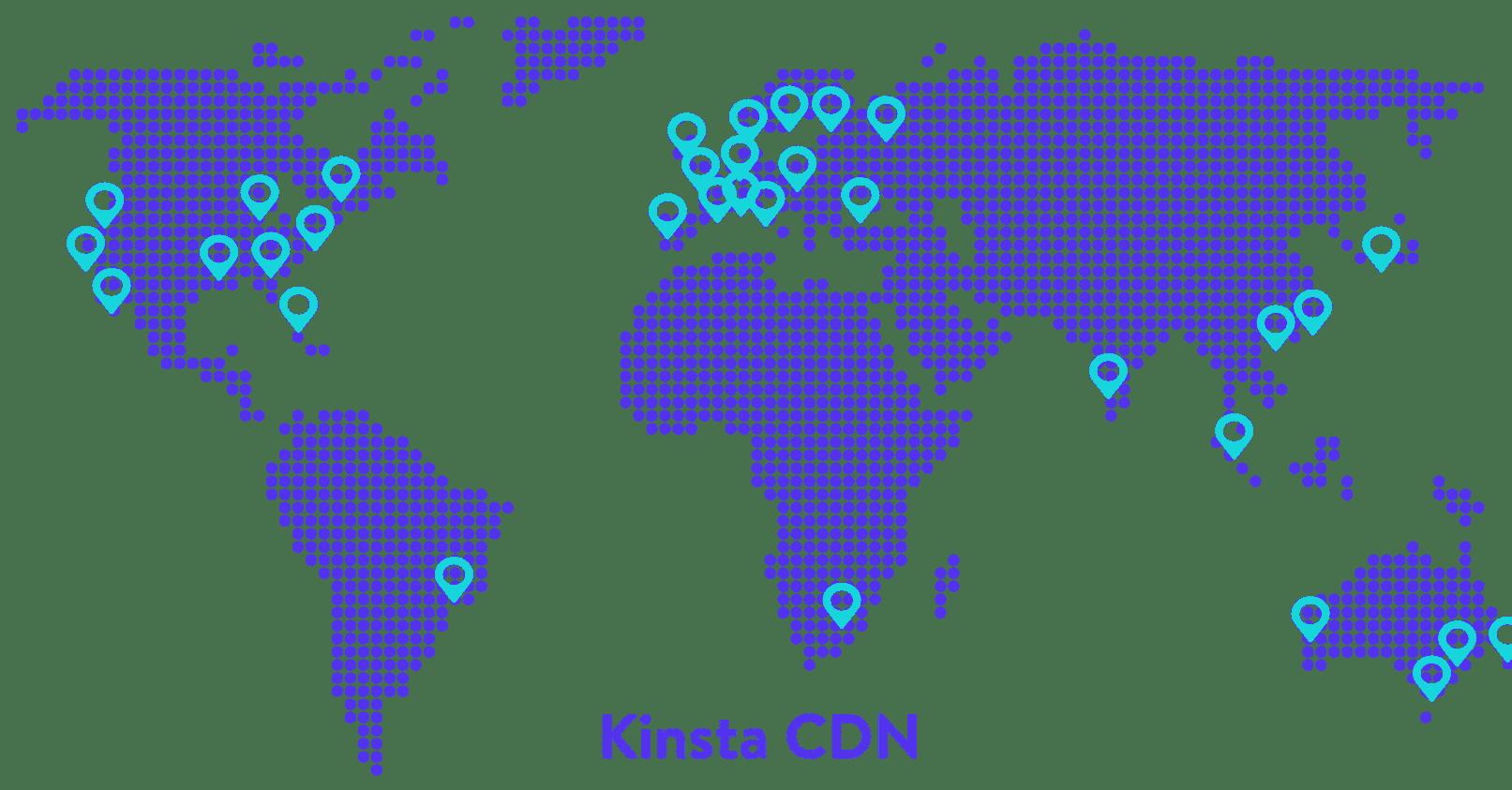 Rede do CDN da Kinsta