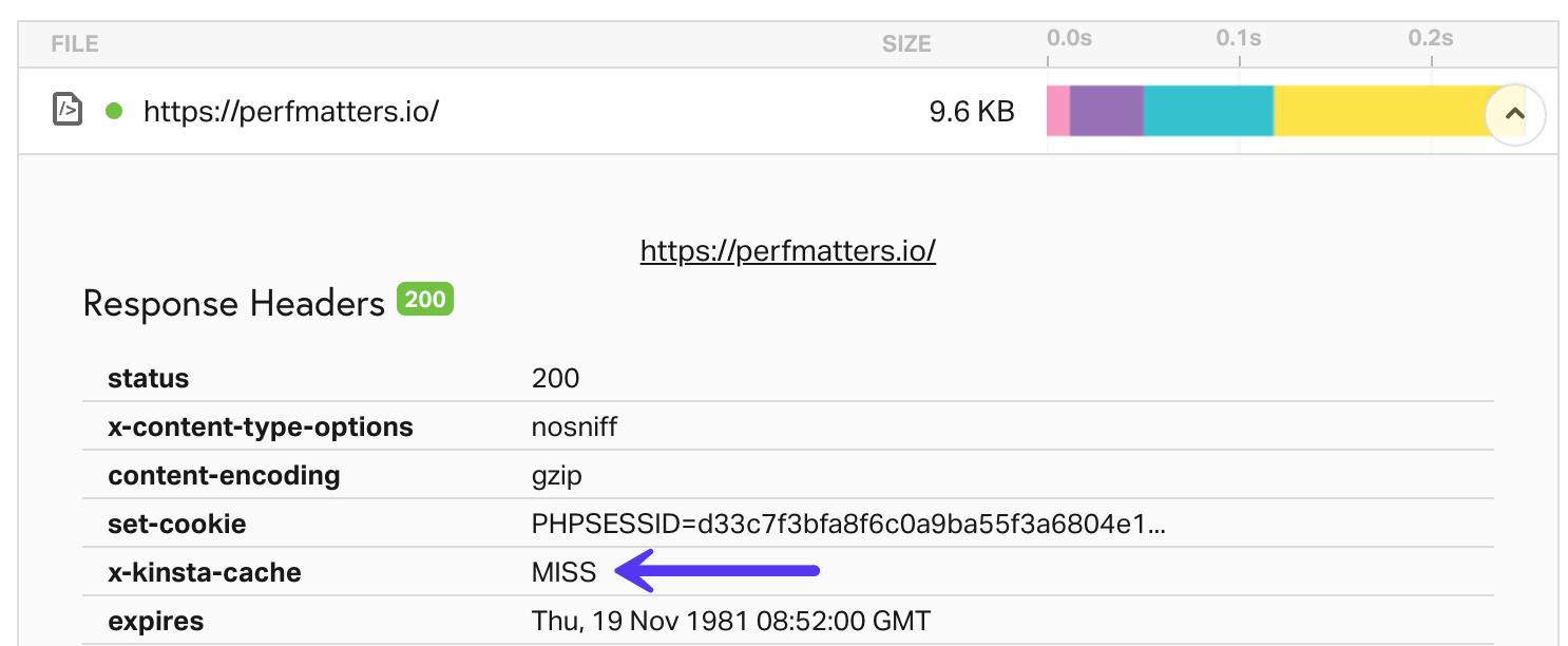 Cabeçalho HTTP MISS