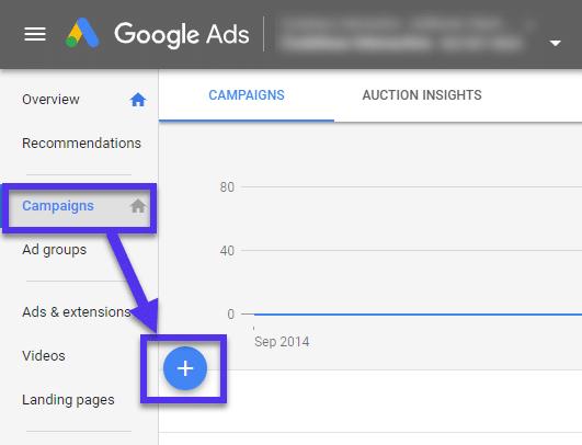 Nova campanha de anúncios do Google