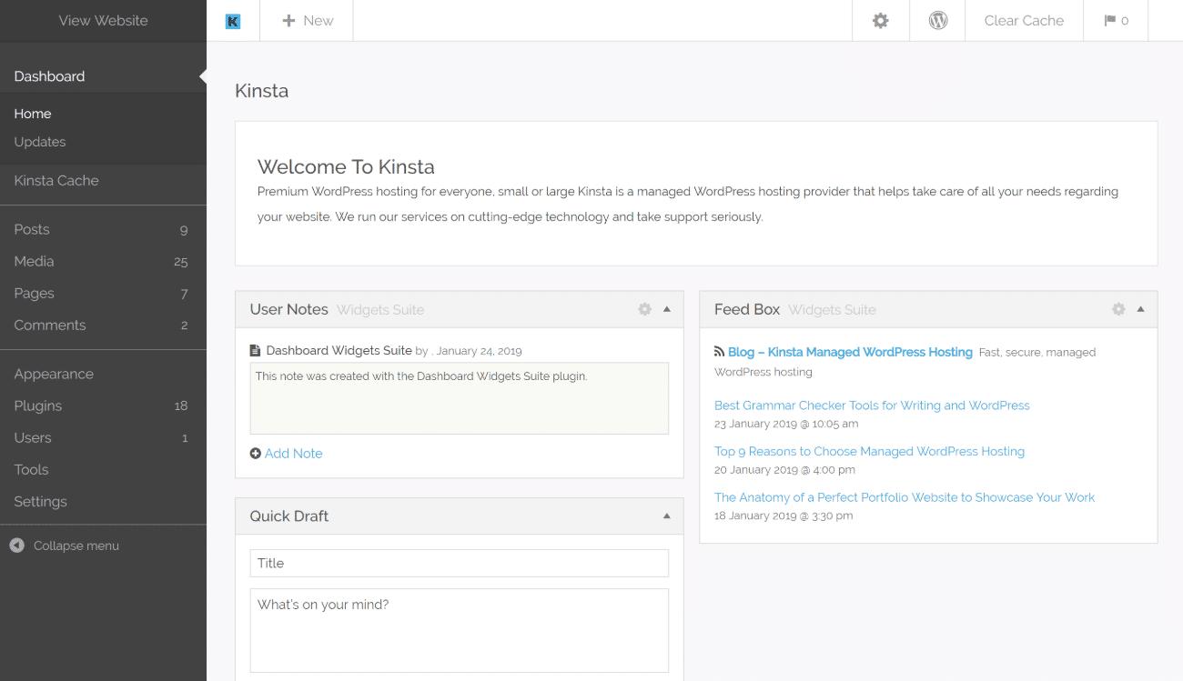 Tema WordPress de administração Kodeo