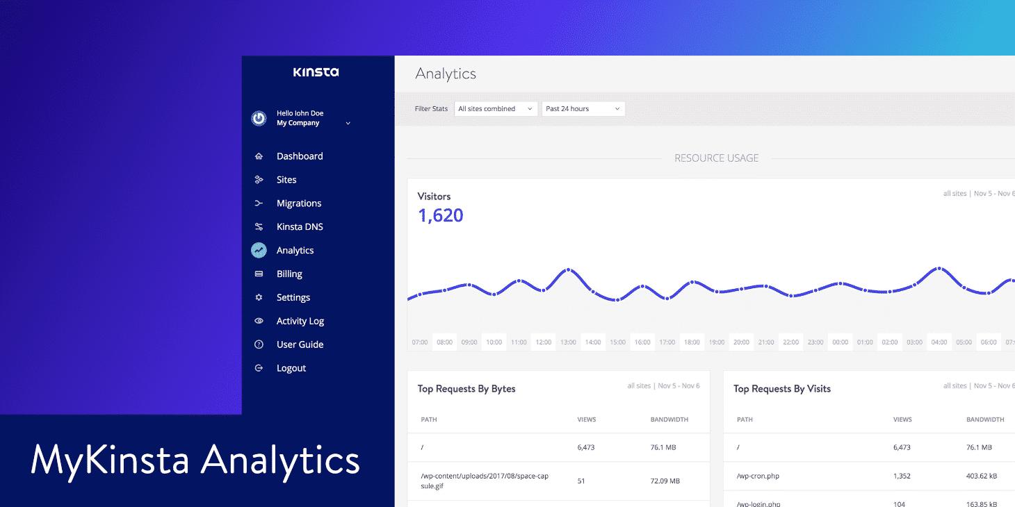 Como Utilizar o MyKinsta Analytics para Solucionar Problemas no Seu site