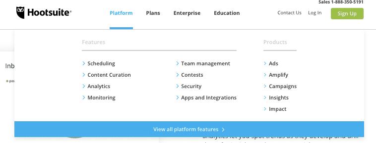 Exemplo de plataforma e planos