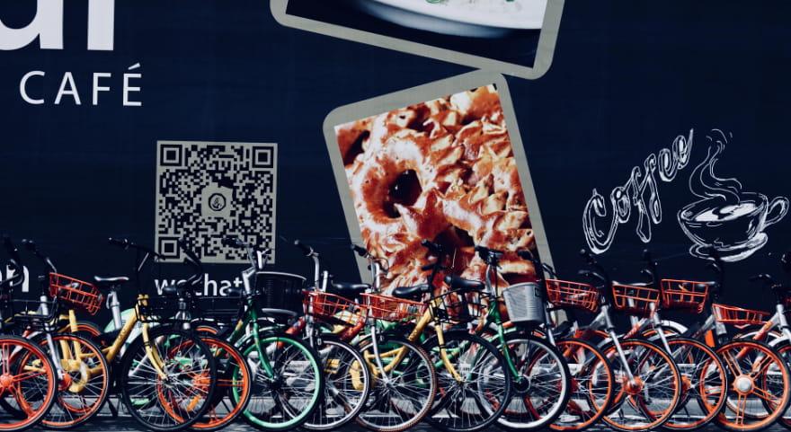 Promoção de café com código QR