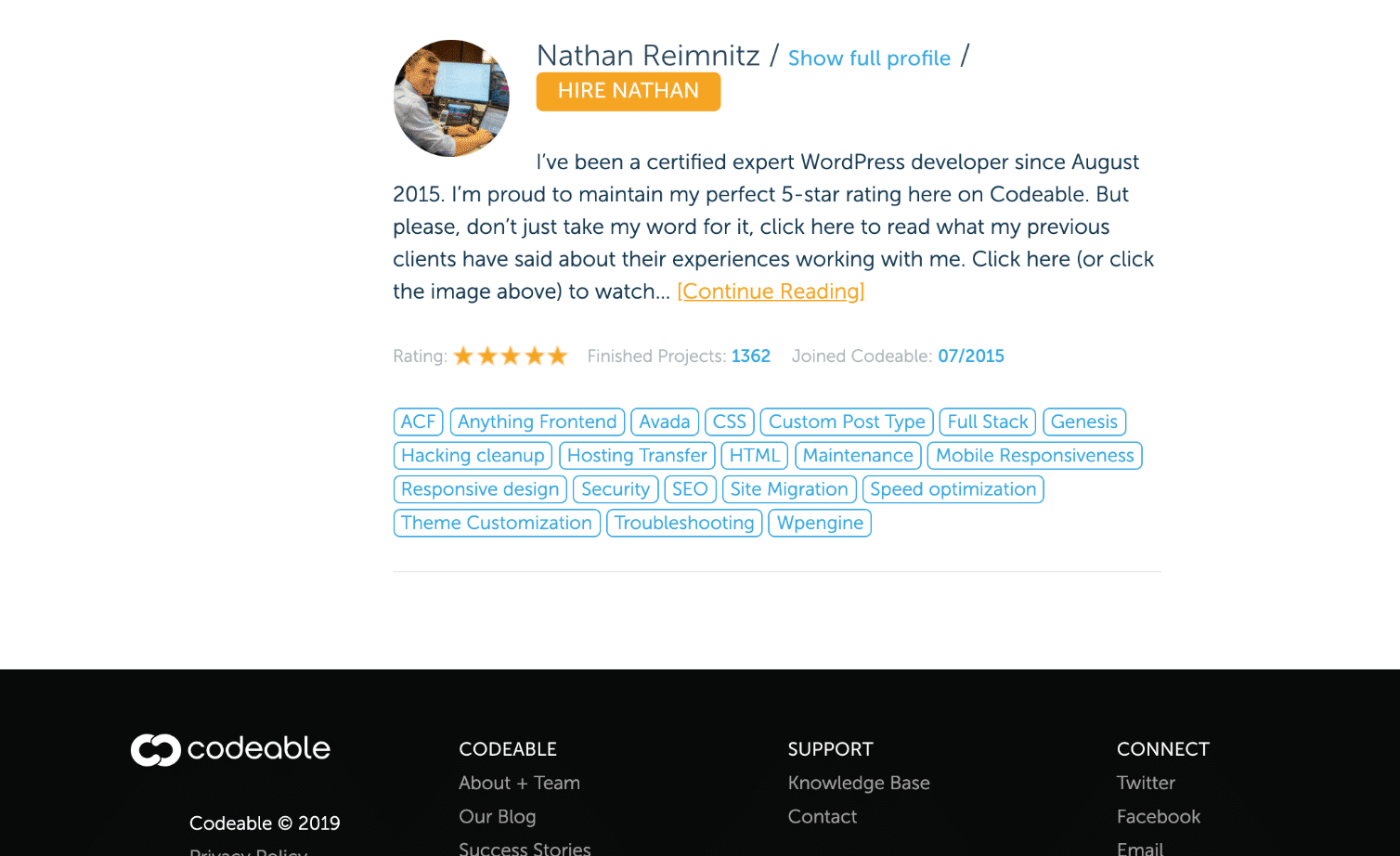 Contrate um designer/desenvolvedor WordPress