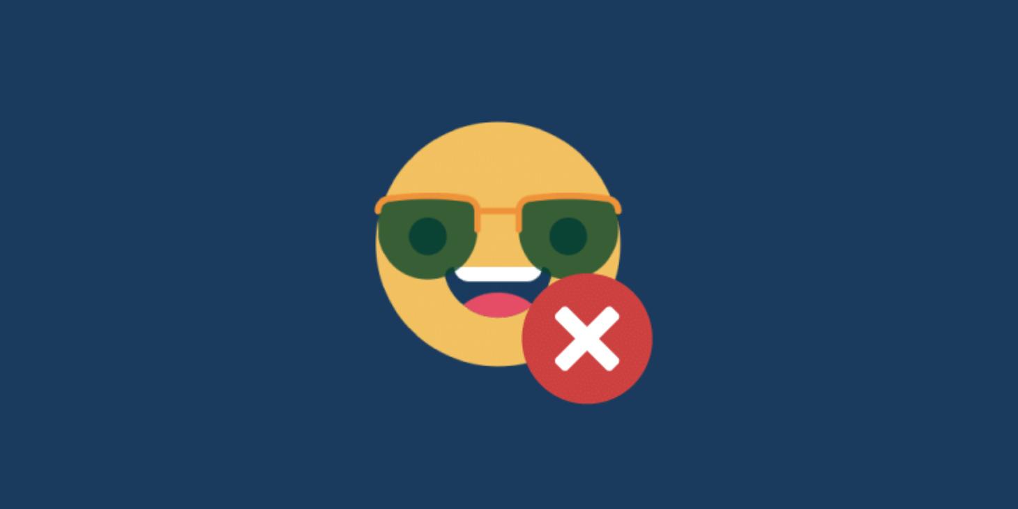 Desativar os Emojis