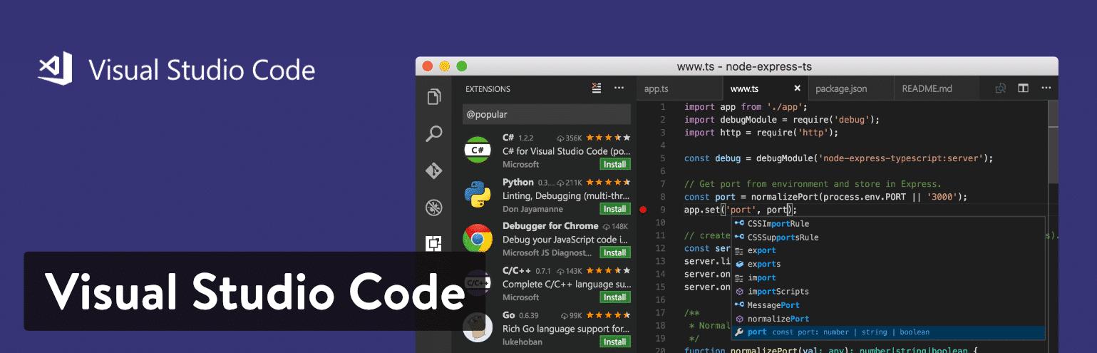Editor de texto Visual Studio Code