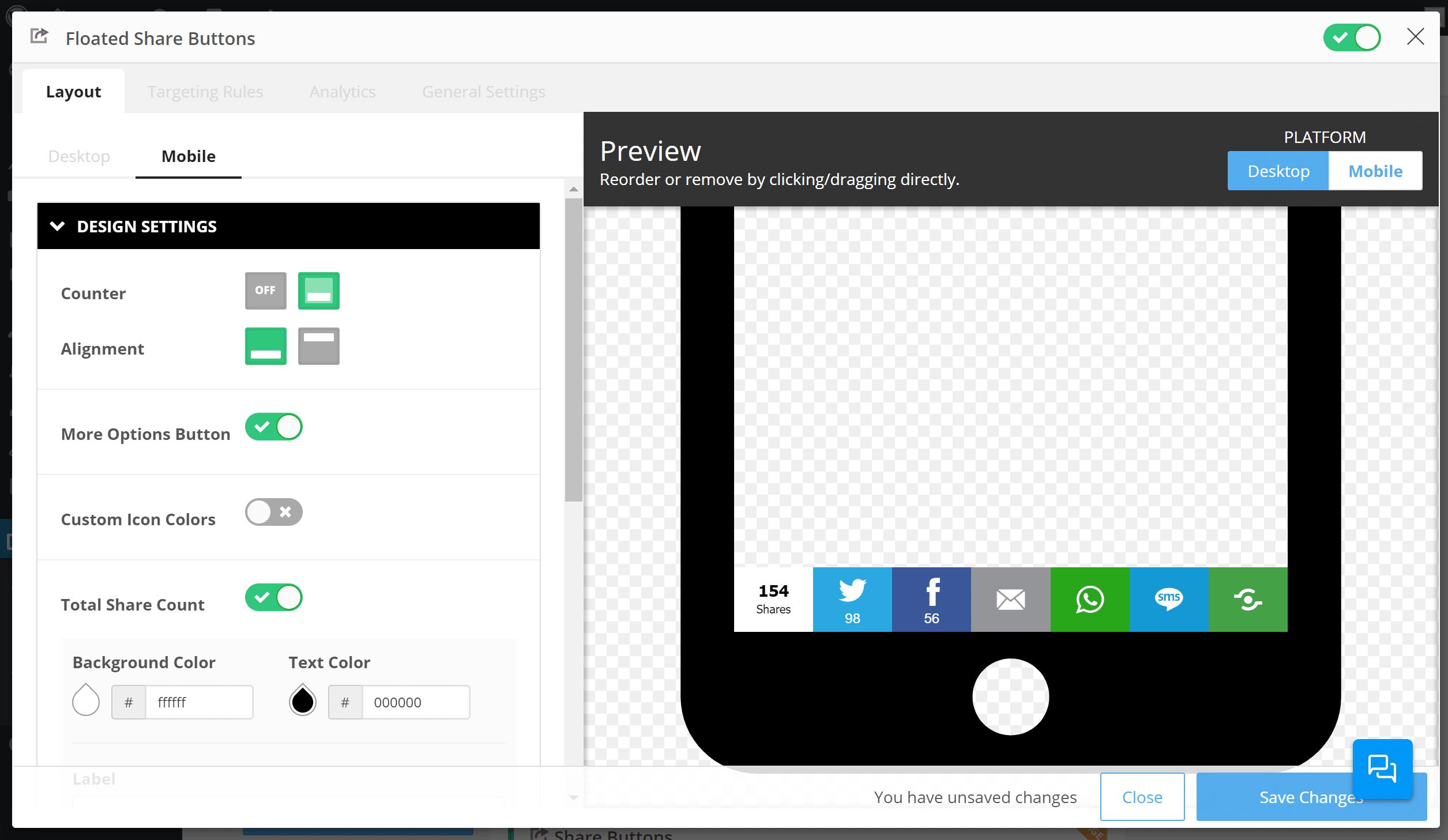 Como mudar o design móvel