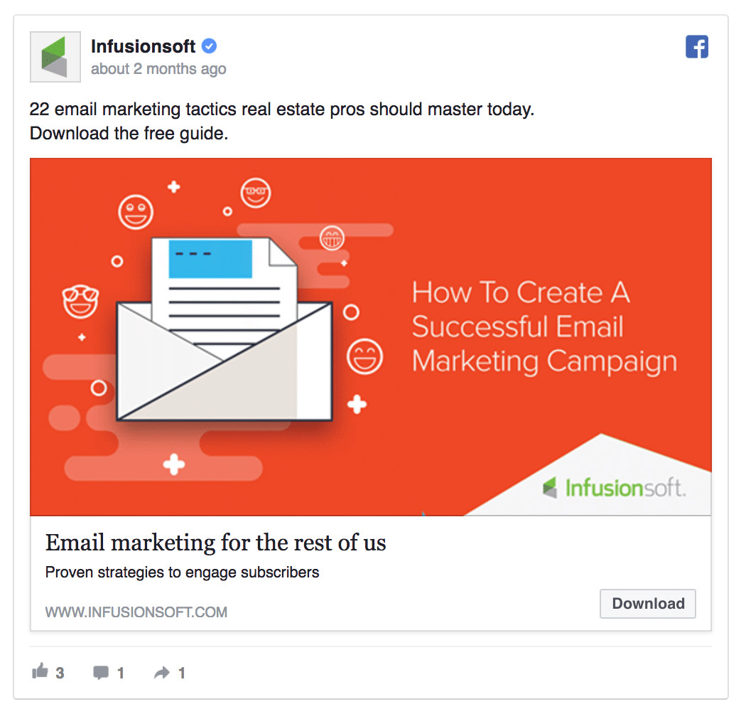 Anúncio B2B no Facebook