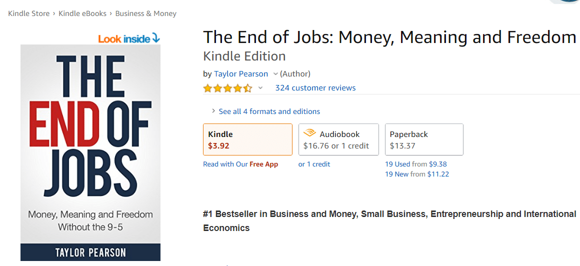"E-book ""The End of Jobs"""