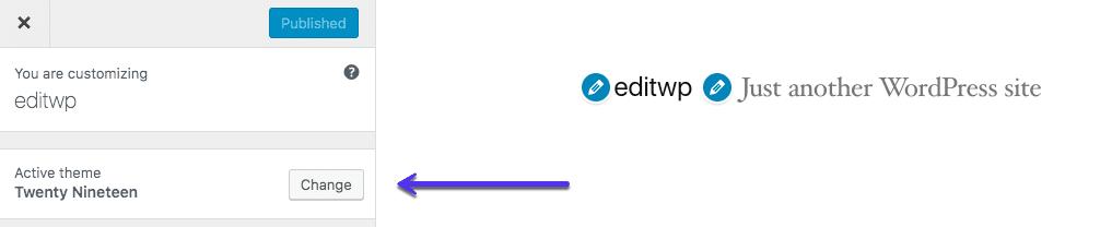 Como alterar um tema no WordPress