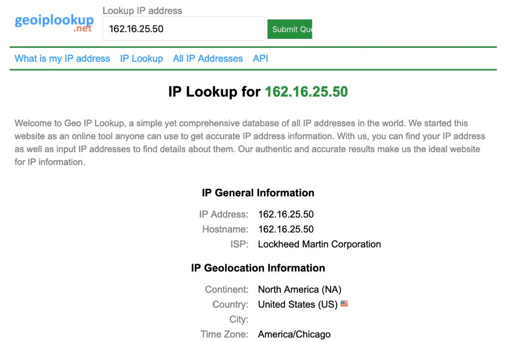Pesquisa Geo IP