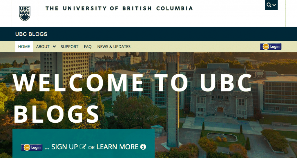 Blogs da UBC