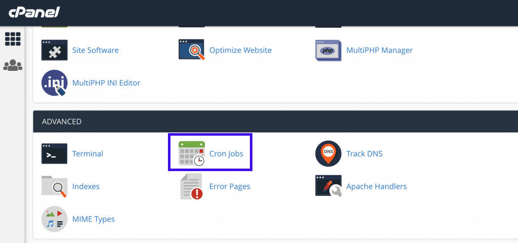 Cron jobs via cPanel