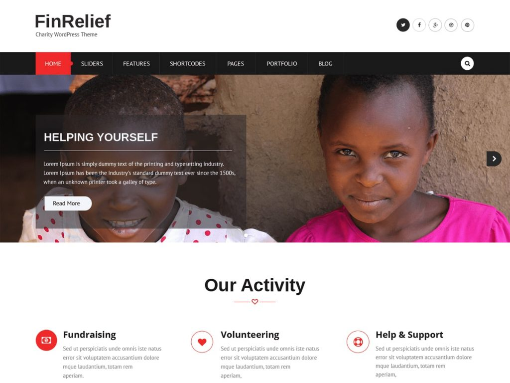 FinRelief theme