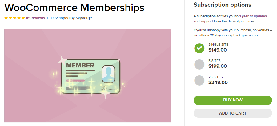 A extensão do WooCommerce Memberships
