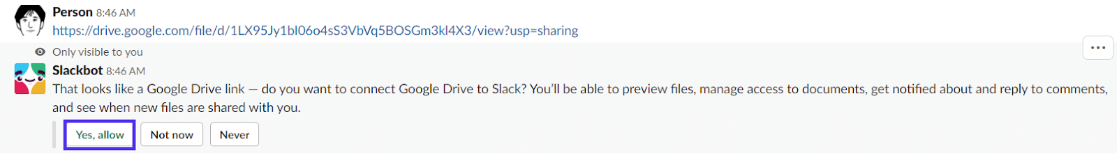 google docs slack integration