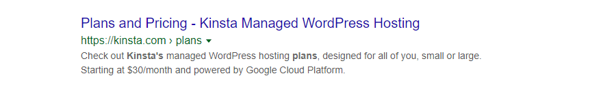 Meta descrição para uma página de produto